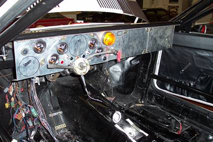 Layout of gauges as per the original car.