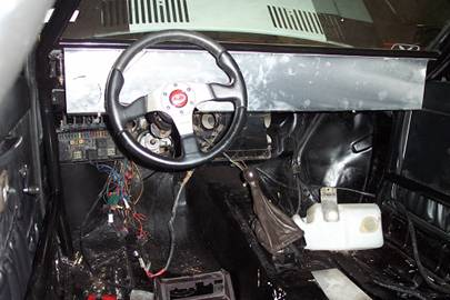 We fabricated an aluminium dashboard as per the original rally quattro. We then set about sourcing the various VDO gauges used in the original.